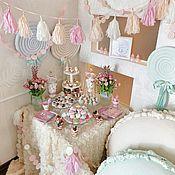 Подарки к праздникам ручной работы. Ярмарка Мастеров - ручная работа Baby shower party. Girl. Handmade.