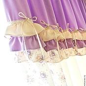 Для дома и интерьера handmade. Livemaster - original item Curtains lilac in the nursery for girls with tie backs, Shabby Chic, Provence. Handmade.