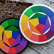 handmade. Livemaster - original item Itten color circle (wooden puzzle). Handmade.
