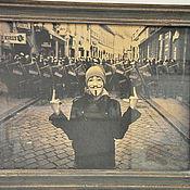 Картины и панно ручной работы. Ярмарка Мастеров - ручная работа Фотокартина ретро Маска Vendetta, ретро постер, винтажное панно. Handmade.