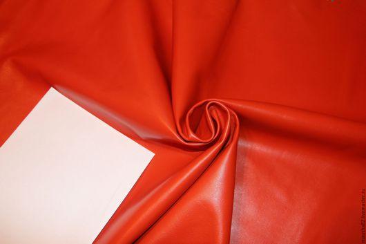 Шитье ручной работы. Ярмарка Мастеров - ручная работа. Купить кожа МРС оранж. Handmade. Рыжий, одежная кожа