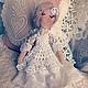 """Куклы Тильды ручной работы. Ярмарка Мастеров - ручная работа. Купить """"Фрида"""". Handmade. Ангелочек, интерьерная кукла, Вязание крючком"""
