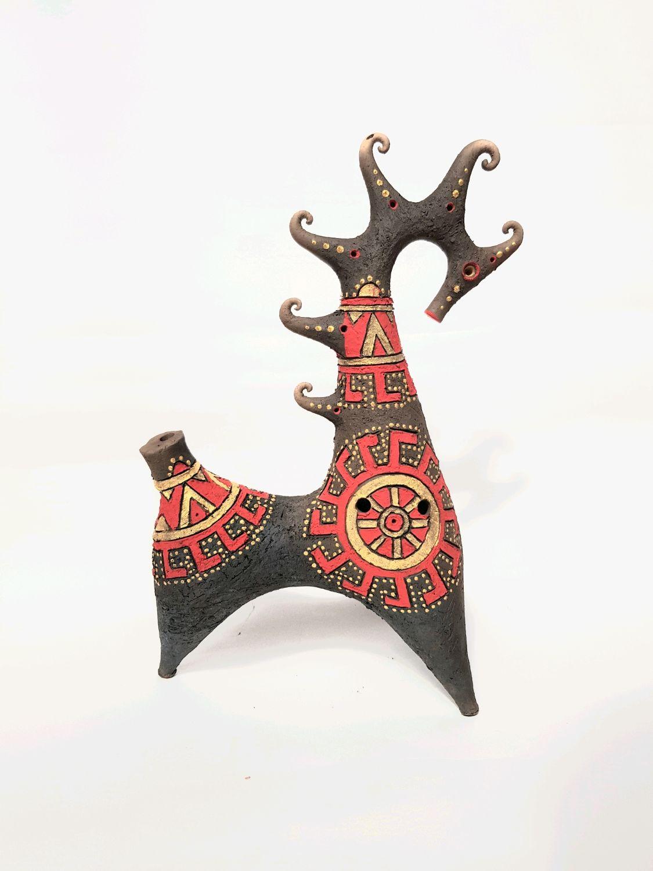 Духовые инструменты ручной работы. Ярмарка Мастеров - ручная работа. Купить Конь- свистулька. Handmade. Лошадь, свистулька, окарина