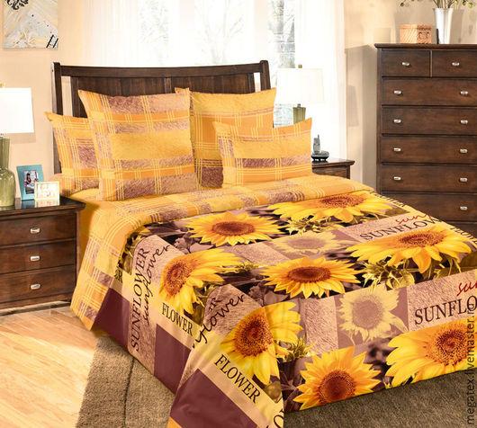 ткань для постельного белья перкаль Солнечный цветок (с компаньоном). Ткани и фурнитура МегаТекс