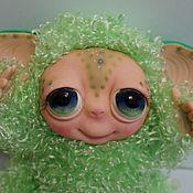 Куклы и игрушки ручной работы. Ярмарка Мастеров - ручная работа Лесной большеглазый тролльчонок. Handmade.