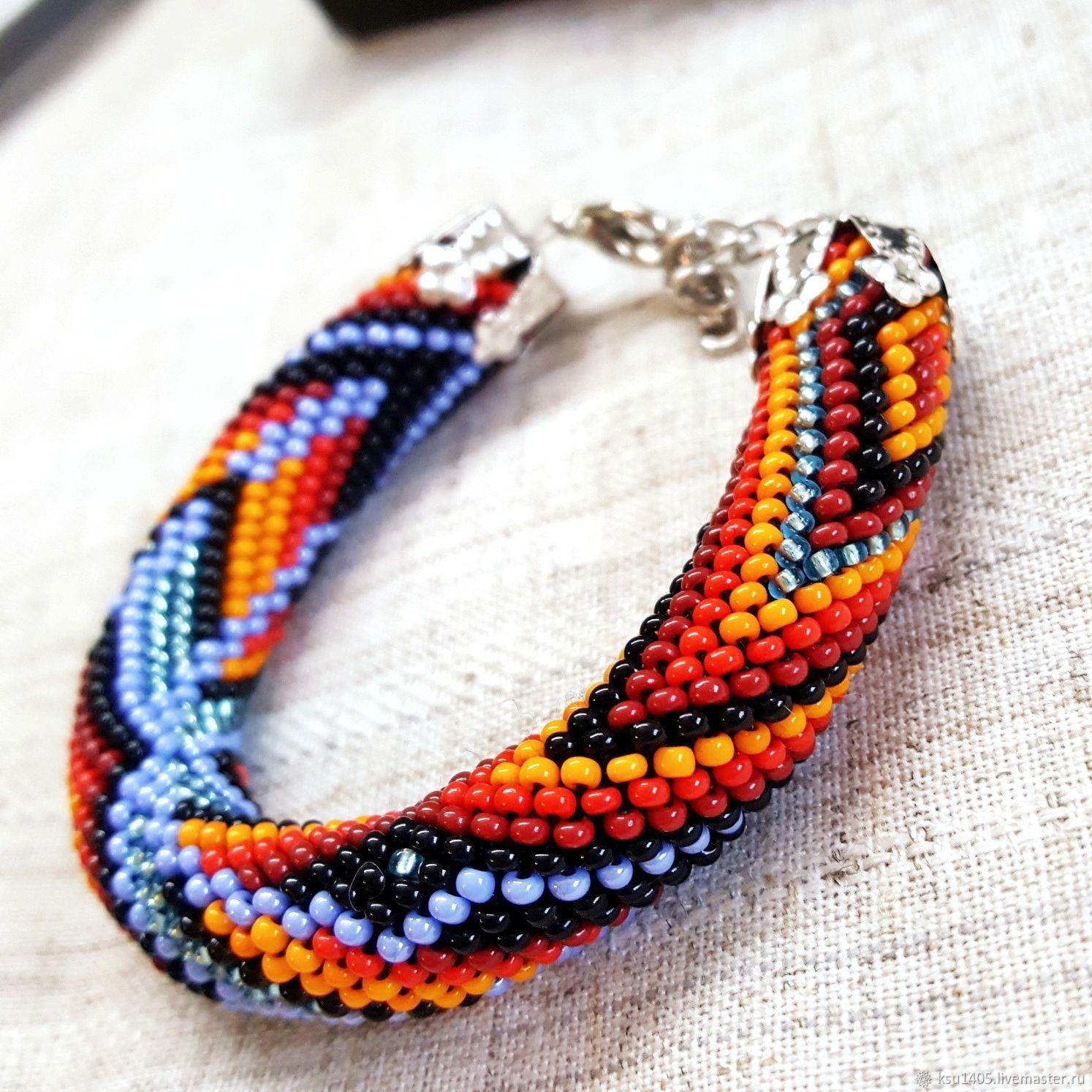 Bracelets Handmade Livemaster Bracelet Beaded Harness India