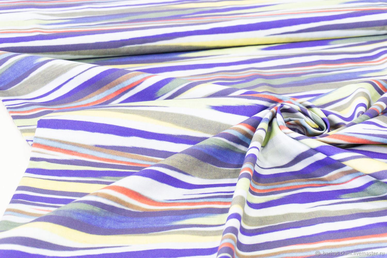 Хлопок Missoni цветные полоски, Ткани, Сочи,  Фото №1