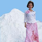"""Одежда ручной работы. Ярмарка Мастеров - ручная работа Юбка в пол """"Розовая волна"""". Handmade."""