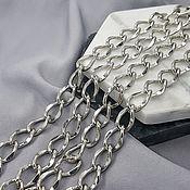 Материалы для творчества handmade. Livemaster - original item 50cm Chain 10mm (thickness) color platinum (5294-P). Handmade.