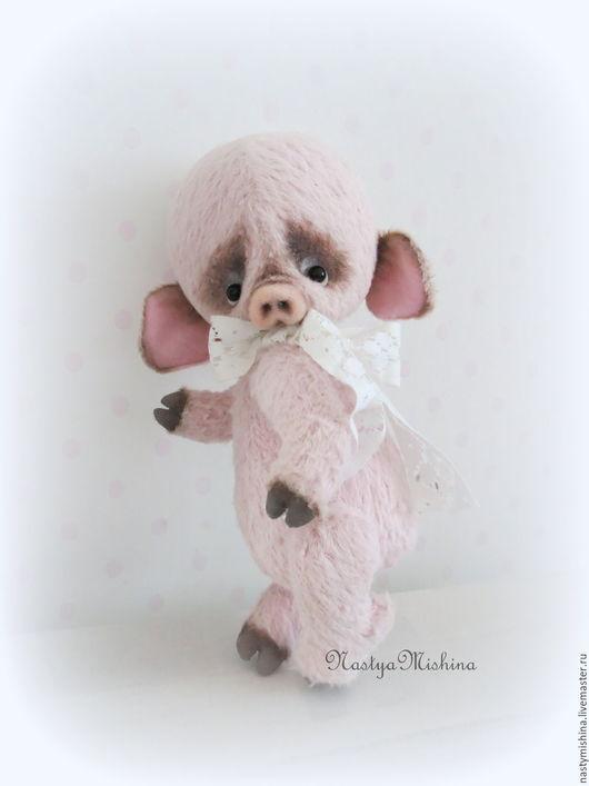 Мишки Тедди ручной работы. Ярмарка Мастеров - ручная работа. Купить Сеня. Handmade. Бледно-розовый, поросенок, акриловые краски