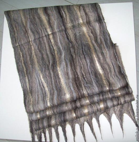 Шарфы и шарфики ручной работы. Ярмарка Мастеров - ручная работа. Купить Шарф валяный ч/ш бежево-коричневый. Handmade. Коричневый