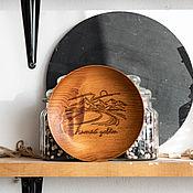 Посуда handmade. Livemaster - original item Wooden plate