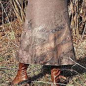 "Одежда ручной работы. Ярмарка Мастеров - ручная работа Валяная юбка ""Шоколадная"". Handmade."