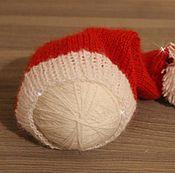 Работы для детей, ручной работы. Ярмарка Мастеров - ручная работа Новогодний колпачок для фотосессии. Handmade.