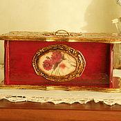 """Для дома и интерьера ручной работы. Ярмарка Мастеров - ручная работа Коробка для чая """"Золотая осень"""". Handmade."""