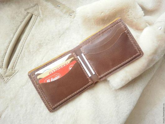 Кошельки и визитницы ручной работы. Ярмарка Мастеров - ручная работа. Купить Портмоне кошелёк из натуральной кожи кошелёк кожаный ручной работы. Handmade.