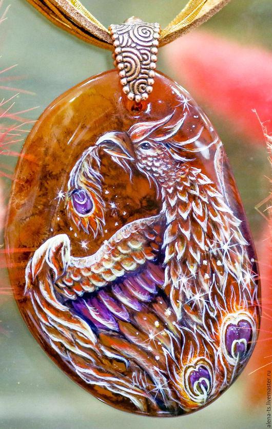 Кулоны, подвески ручной работы. Ярмарка Мастеров - ручная работа. Купить ...Огненная птица...кулон. Handmade. Оранжевый, птица огонь