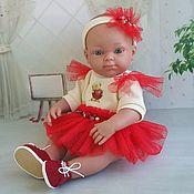 Одежда для кукол ручной работы. Ярмарка Мастеров - ручная работа Наряд для пупса-девочки 32 см. Handmade.