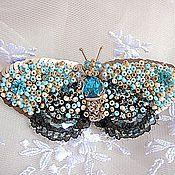 """Украшения ручной работы. Ярмарка Мастеров - ручная работа Брошь """"Полёт бабочки"""". Handmade."""