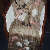 Аксессуары handmade. Livemaster - original item Stole made of silk chocolate Milk. Handmade.