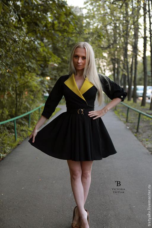 Платья ручной работы. Ярмарка Мастеров - ручная работа. Купить Платье/Платье короткое/Платье пышное. Handmade. Черный, платье авторское