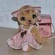 Мишки Тедди ручной работы. Кошечка Николь. Irene Gromi (Teddy Art Boutique). Интернет-магазин Ярмарка Мастеров. Кошечка