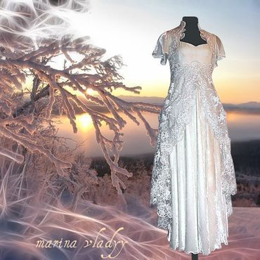 Свадебный салон ручной работы. Ярмарка Мастеров - ручная работа свадебное платье из бархата. Handmade.