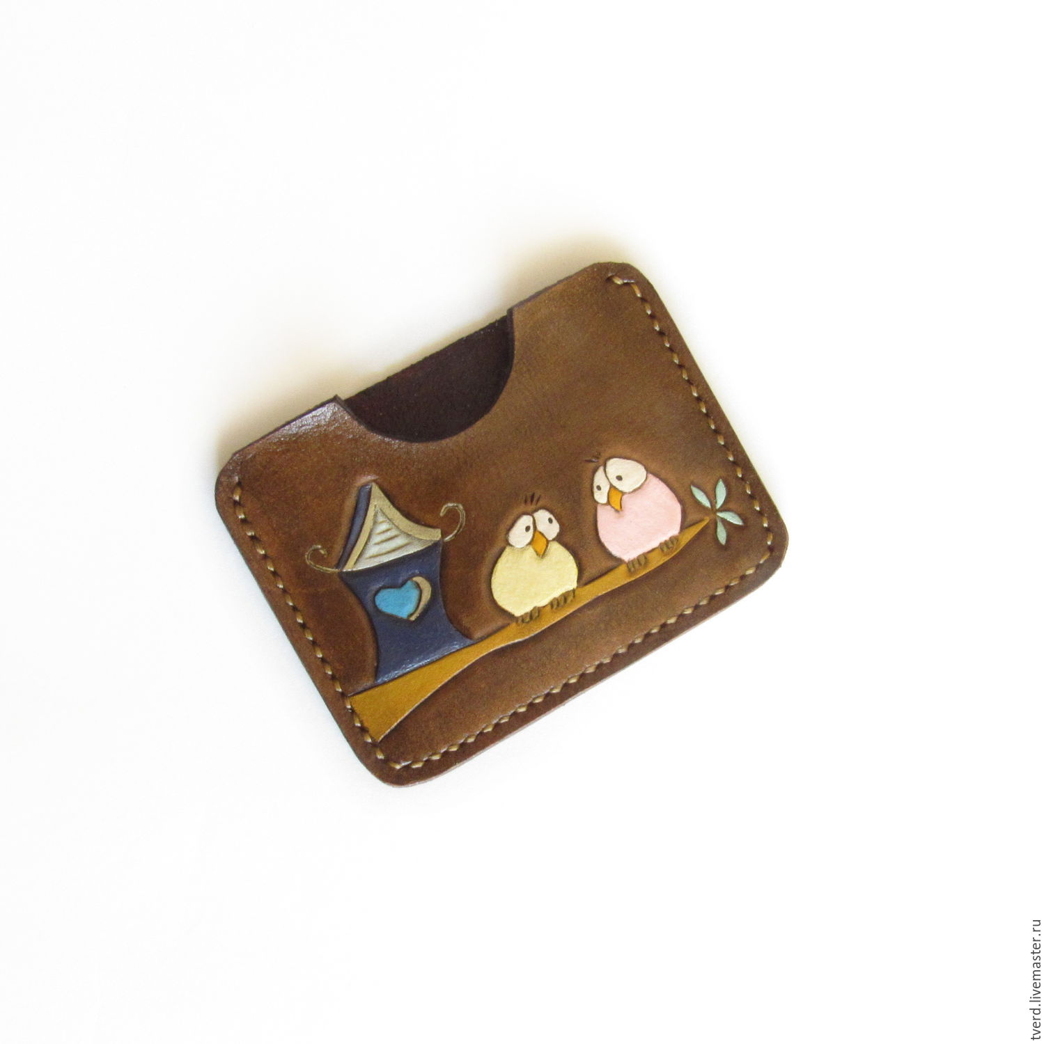cheaper d42dd 27192 Bifold Cardholder, Leather Wallet, Personalized leather card holder – shop  online on Livemaster with shipping - CH2O3COM | Moscow