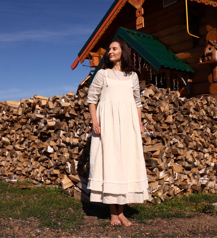 Сарафан из муслина Молочный Улун, Сарафаны, Бийск,  Фото №1