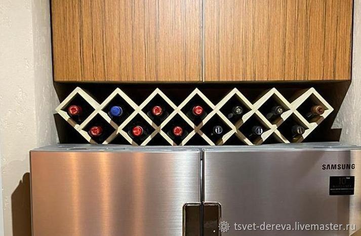 Shelf rack 'sota' for 19 bottles of wine, Shelves, Moscow,  Фото №1