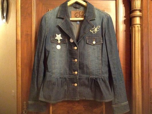 Одежда. Ярмарка Мастеров - ручная работа. Купить ESCADA Джинсовый пиджак, оригинал. Handmade. Синий, escada, женский пиджак