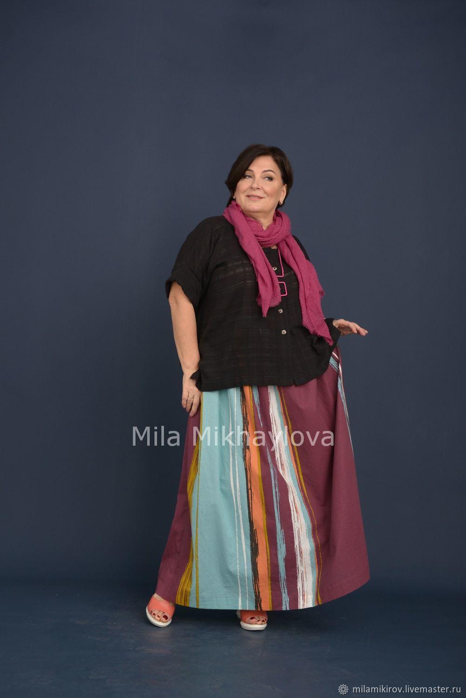 The straight jacket of textured Maliki, cotton black Art. Three thousand six hundred thirty eight, Blouses, Kirov, Фото №1