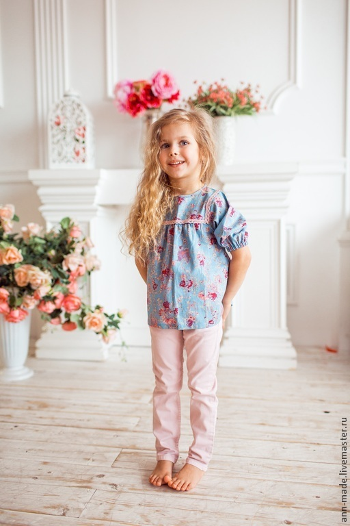 Одежда для девочек, ручной работы. Ярмарка Мастеров - ручная работа. Купить Туника (Арт.: Д-2). Handmade. Разноцветный