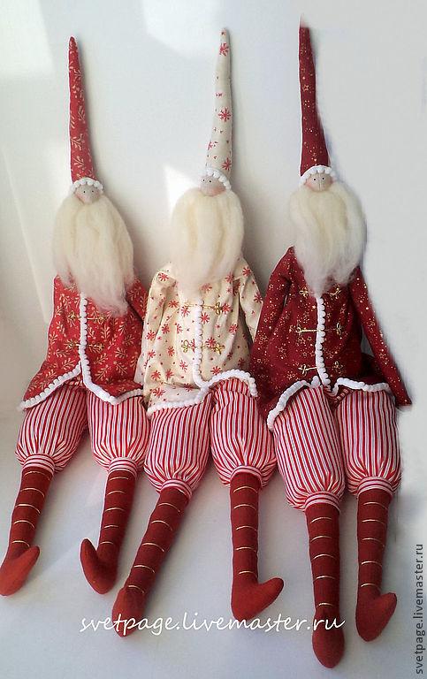Новый год 2017 ручной работы. Ярмарка Мастеров - ручная работа. Купить Санта. Handmade. Бордовый, санта тильда, купить подарок