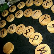 Figurines handmade. Livemaster - original item The RUNES of the FUTHARK solid wood, birch. Handmade. Handmade.