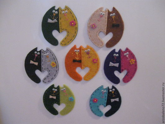 """Магниты ручной работы. Ярмарка Мастеров - ручная работа. Купить Магнит  """"Коты-неразлучники"""". Handmade. Разноцветный, сувениры и подарки"""