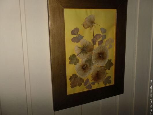 Картины цветов ручной работы. Ярмарка Мастеров - ручная работа. Купить гербарий-картина желтые розы. Handmade. Лимонный, гербарий