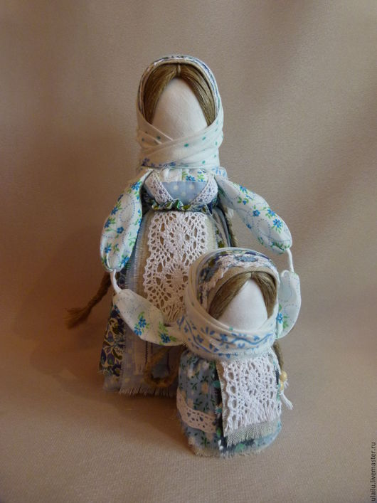 Народные куклы ручной работы. Ярмарка Мастеров - ручная работа. Купить Ведучка. Handmade. Голубой, сувениры ручной работы, хлопок
