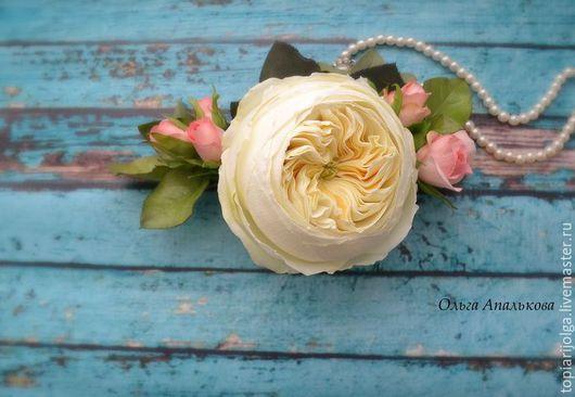 Цветы ручной работы. Ярмарка Мастеров - ручная работа. Купить Гребень для прически. Handmade. Цветы, цветы на свадьбу, гребень с цветами