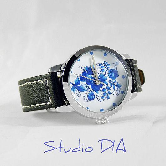 Оригинальные Дизайнерские Часы Гжель. Студия Дизайнерских Часов DIA.