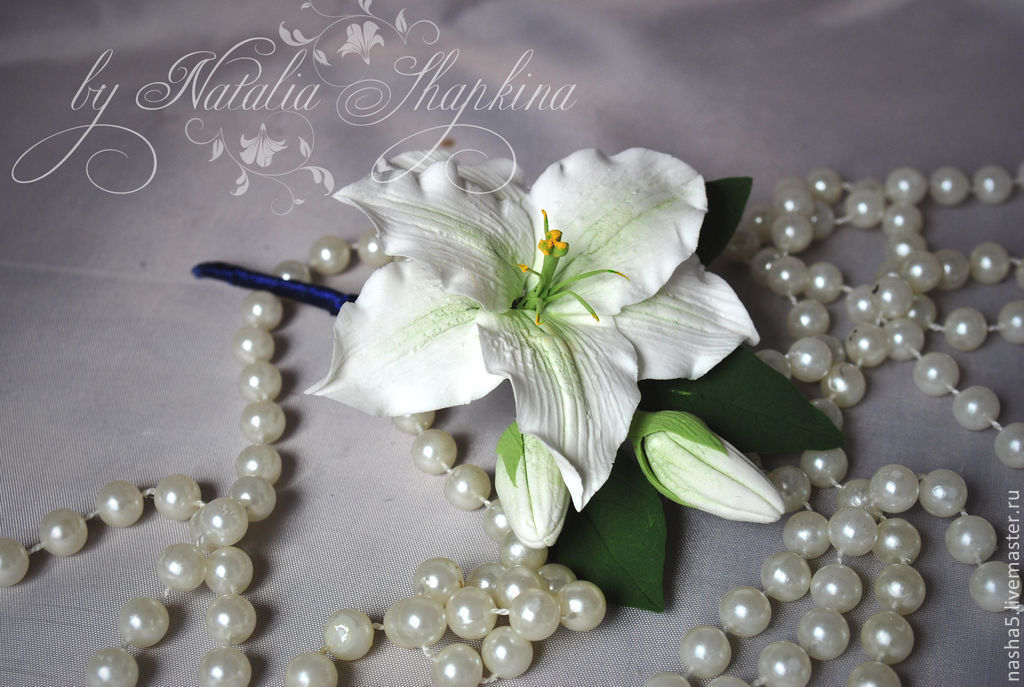 Groom boutonniere with roses and Lily, Boutonnieres, Smolensk, Фото №1