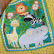 Для дома и интерьера ручной работы. Ярмарка Мастеров - ручная работа Одеяло детское Джунгли. Handmade.
