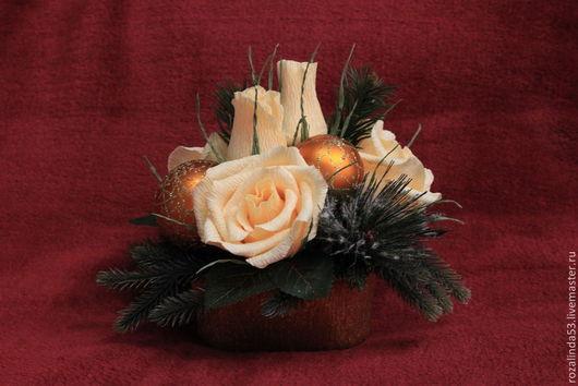 Букеты ручной работы. Ярмарка Мастеров - ручная работа. Купить Новогодняя композиция (2). Handmade. Новый Год, шоколадный подарок