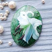 Сувениры и подарки handmade. Livemaster - original item Lily on fuchsite - jewelry insert for jewelry. Handmade.