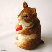 Felted Toy handmade. Livemaster - original item Felt Hamster toy. Handmade.