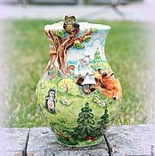 """Для дома и интерьера ручной работы. Ярмарка Мастеров - ручная работа Ваза фарфоровая """"Доктор Айболит"""" (малая). Handmade."""