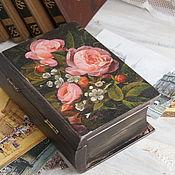 Для дома и интерьера ручной работы. Ярмарка Мастеров - ручная работа Шкатулка-книжка для хранения. Handmade.