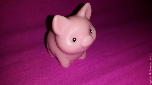 """Мыло ручной работы. Ярмарка Мастеров - ручная работа. Купить Мыло """"Поросёнок Кнопка"""". Handmade. Бледно-розовый, поросенок"""