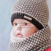 """Работы для детей, ручной работы. Ярмарка Мастеров - ручная работа Копмлект зимний """" Кофейный """" шапка , снуд , шарф , для мальчика. Handmade."""