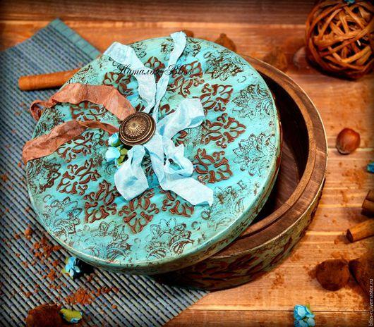 """Кухня ручной работы. Ярмарка Мастеров - ручная работа. Купить Короб """"Mint Truffle"""". Handmade. Бирюзовый, шоколадные конфеты, мятный"""